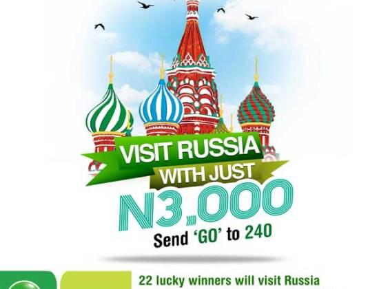 travel to Russia from Nigeria through Glo free promo