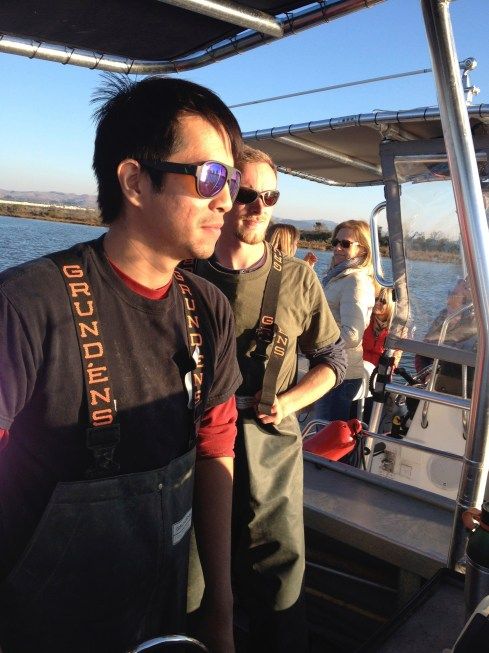 James and Brian at the helm