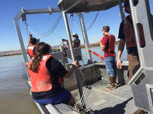 Testing out the mid water trawl