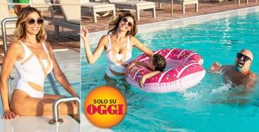"""Cecilia Capriotti, giochi in acqua in Sicilia con la figlia Maria Isabelle e… """"zio"""" Giovanni Ciacci – ESCLUSIVO"""