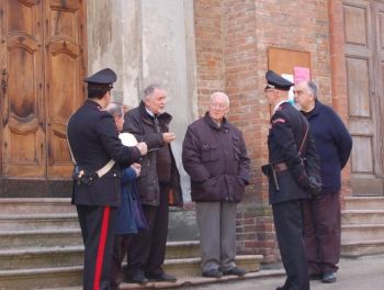 I Carabinieri di San Salvatore indagano