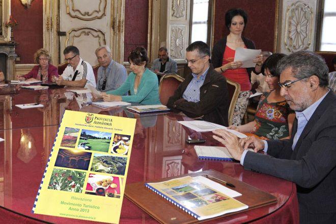 Un momento della conferenza stampa che si è svolta giovedì presso la Provincia di Alessandria