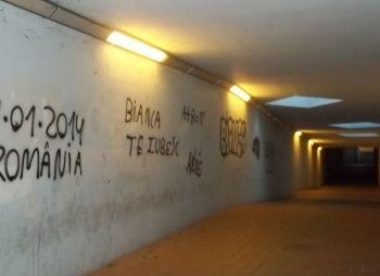 Il sottopasso della stazione di Tortona