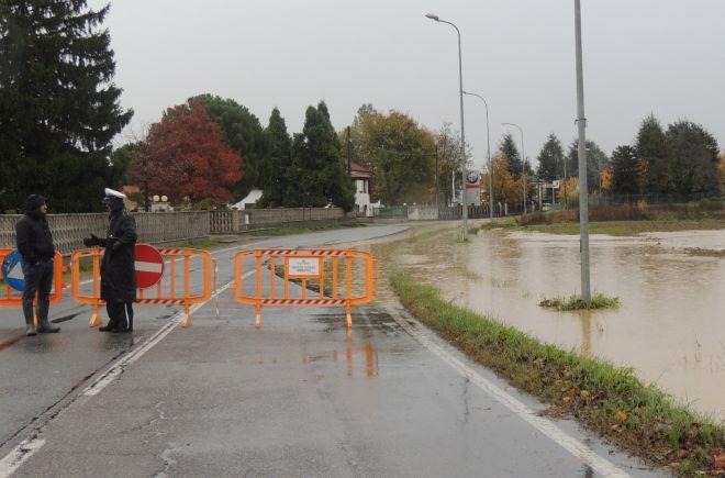 la strada bloccata verso Viguzzolo verso la punta di Garbagna