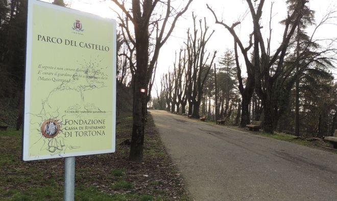 La Fondazione  Cassa di Risparmio di Tortona provvede ancora a sue spese a pulire il parco del Castello