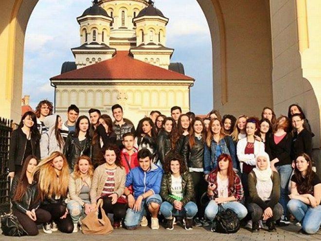 """Gli studenti del Liceo """"Peano"""" a Timişoara"""