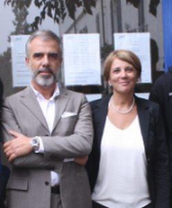 Il sindaco Gianluca Bardone con Sabrina Castellano responsabile dell'agenzia