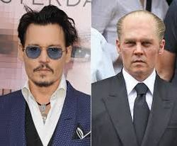 Johnny Depp normale e nel film