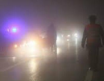 A Viguzzolo un giovane esce fuori strada con l'auto a causa della nebbia
