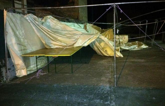 I danni del vento a Castellar Ponzano