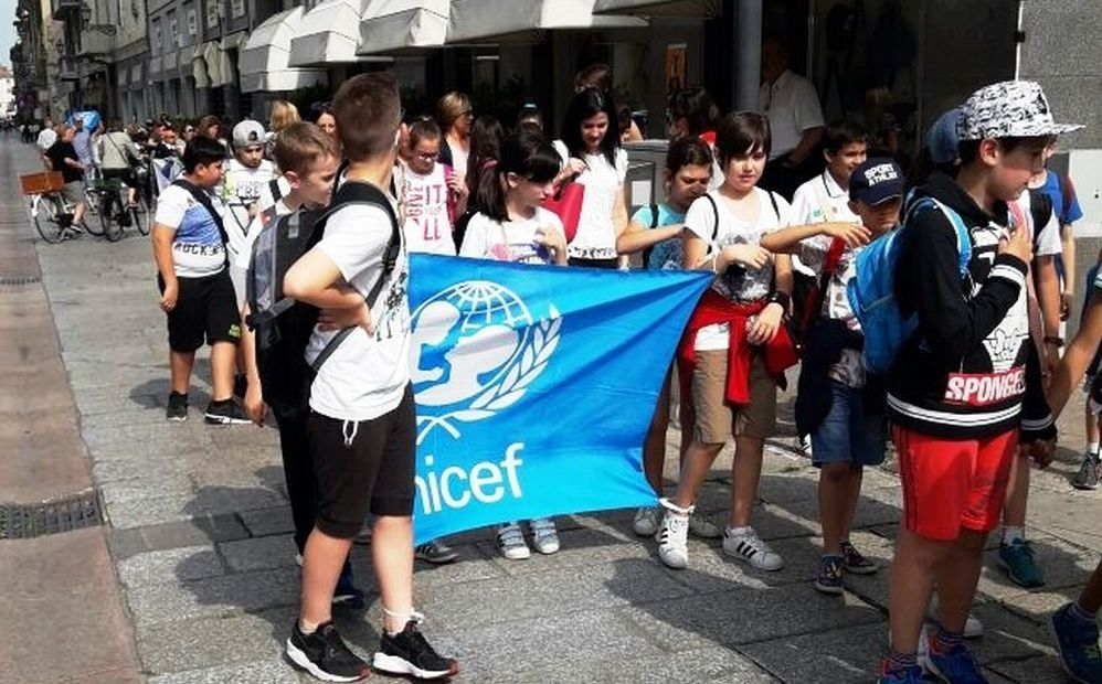 Oltre 300 giovani studenti alessandrini alla marcia dell'unicef