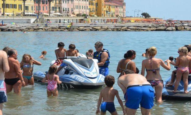 Mercoledì la Polizia con gli acquascooter a Diano Marina
