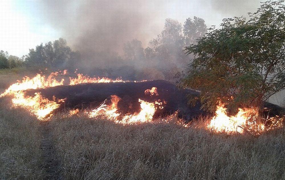 Massima pericolosità per gli incendi di sterpaglie sul territorio tortonese. L'allarme di Comune e Regione