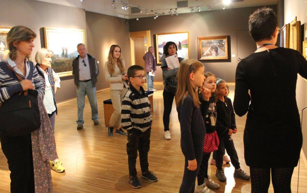 """Un vero successo  la Giornata nazionale delle Famiglie al museo alla Pinacoteca """"Il Divisionismo""""./ Le immagini"""
