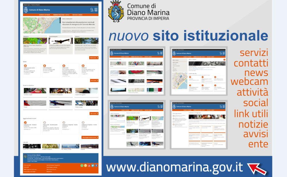 Finalmente il Comune di Diano Marina ha un sito moderno e funzionale, online da stamattina. Da consultare