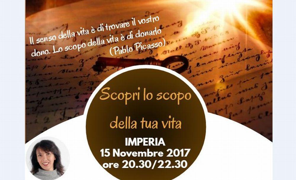 Mercoledì a Imperia un corso per scoprire lo scopo della propria vita con Tiziana Naclerio