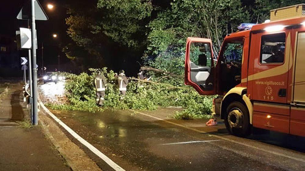 Oltre 50 interventi dei pompieri a Casale Monferrato e nei dintorni per il maltempo