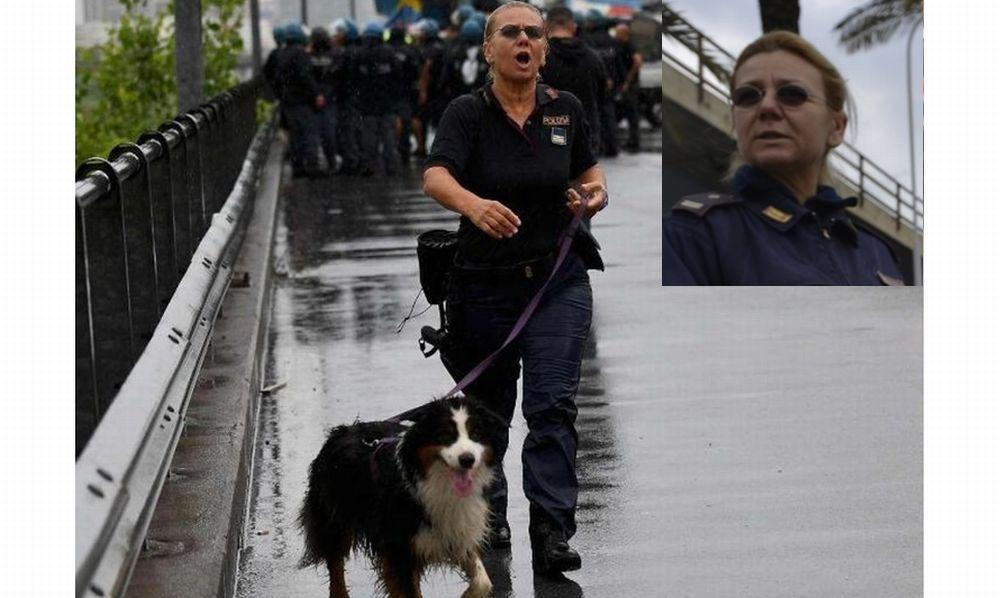 La storia di Laura Bisio, poliziotta tortonese che insieme al cane Night ha salvato sei persone a Genova