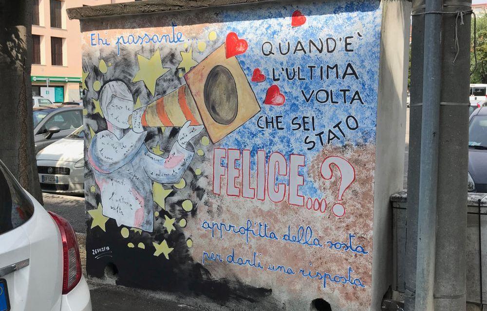 Un bellissimo murales apparso a Tortona ci fa riflettere sulla nostra vita