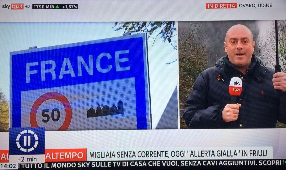 Per Sky il Friuli confina con la Francia! Gli errori non li facciamo soltanto noi!