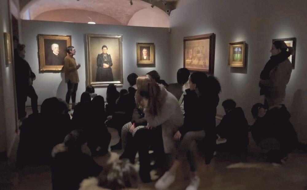 Studenti dall'Olanda per vedere il Museo del Divisionismo di Tortona