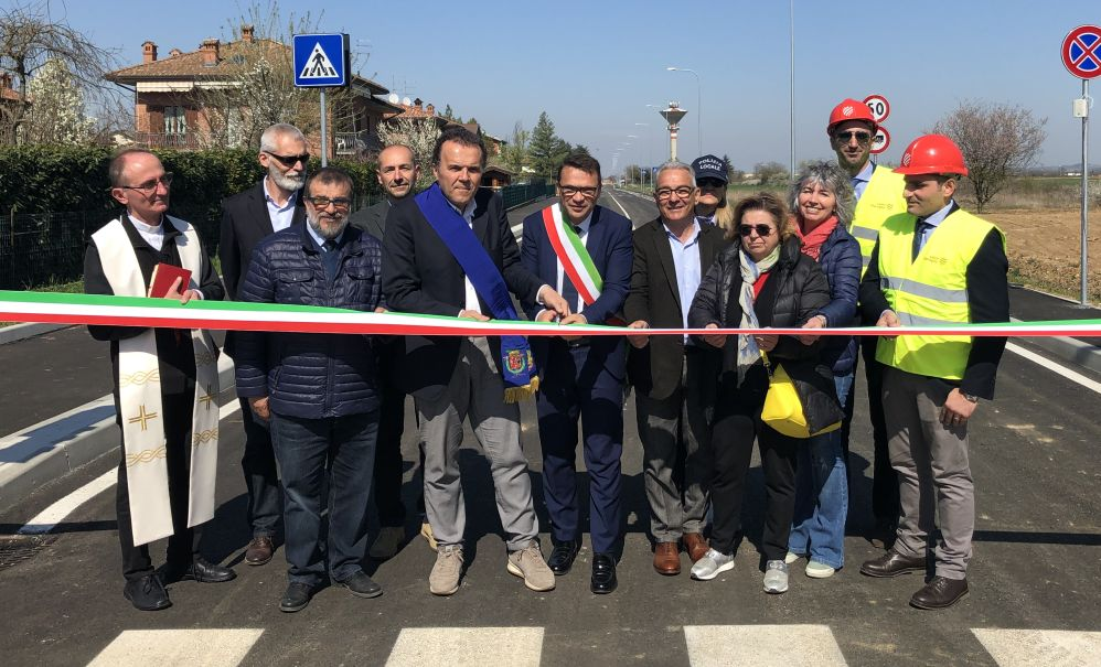 Apertura al traffico nuova viabilità a Pozzolo Formigaro