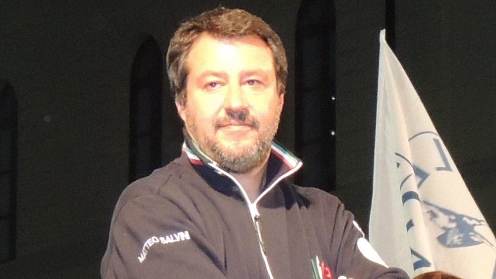 Matteo Salvini domenica sera protagonista della Festa della Lega di Fubine