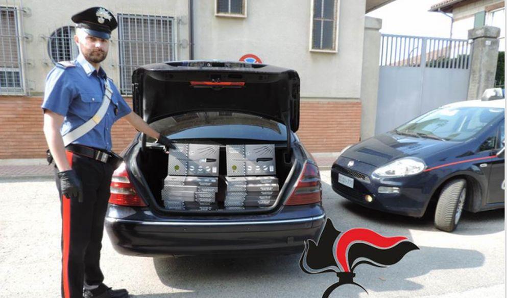 Solero, aveva il bagagliaio dell'auto pieno di set di coltelli, fermato dai Carabinieri e denunciato