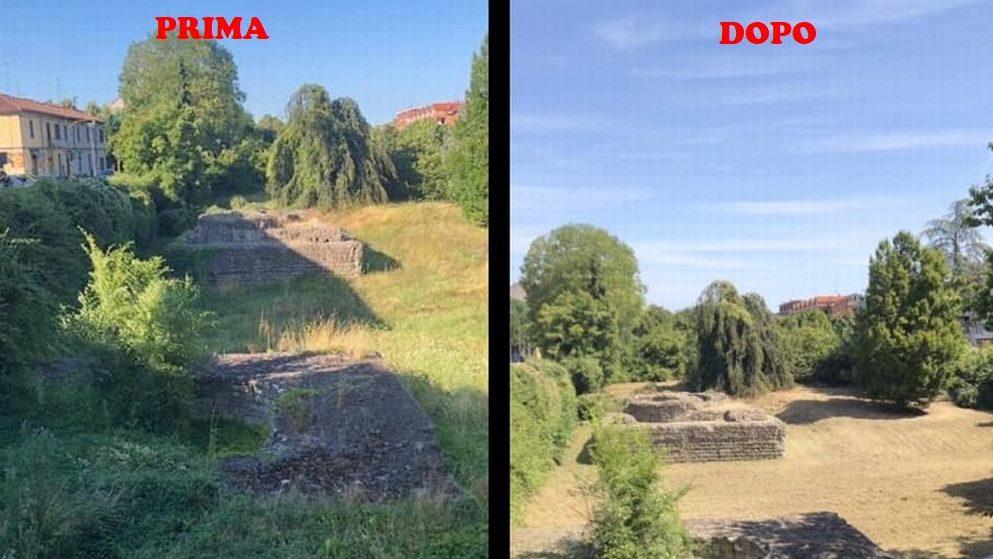 A Tortona finalmente risplendono i resti romani in via Emilia liberati dalle erbacce