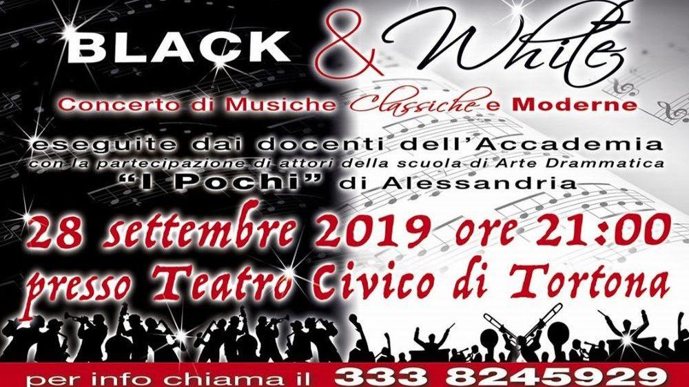 """Sabato a Tortona un concerto per beneficenza dal titolo """"Black & White"""""""