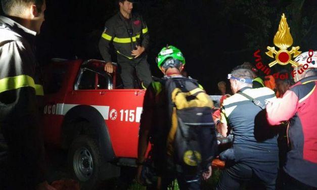 I pompieri di Tortona salvano un uomo di 47 anni disperso nei boschi della Val Curone