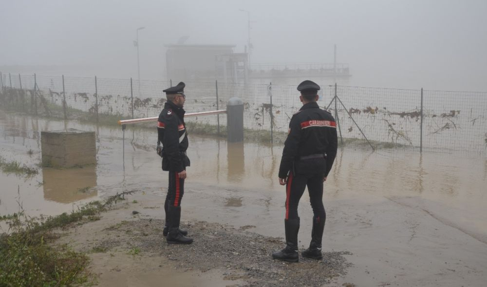 Carabinieri in prima linea durante il maltempo e l'alluvione dei giorni scorsi. Alcune immagini