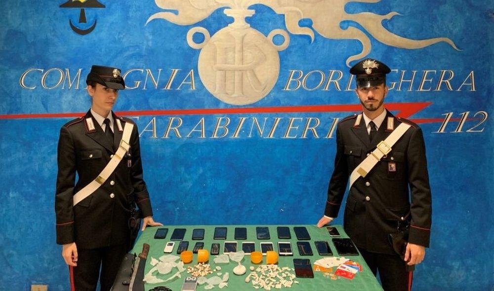 A Bordighera i Carabinieri sequestrano 140 dosi di droga