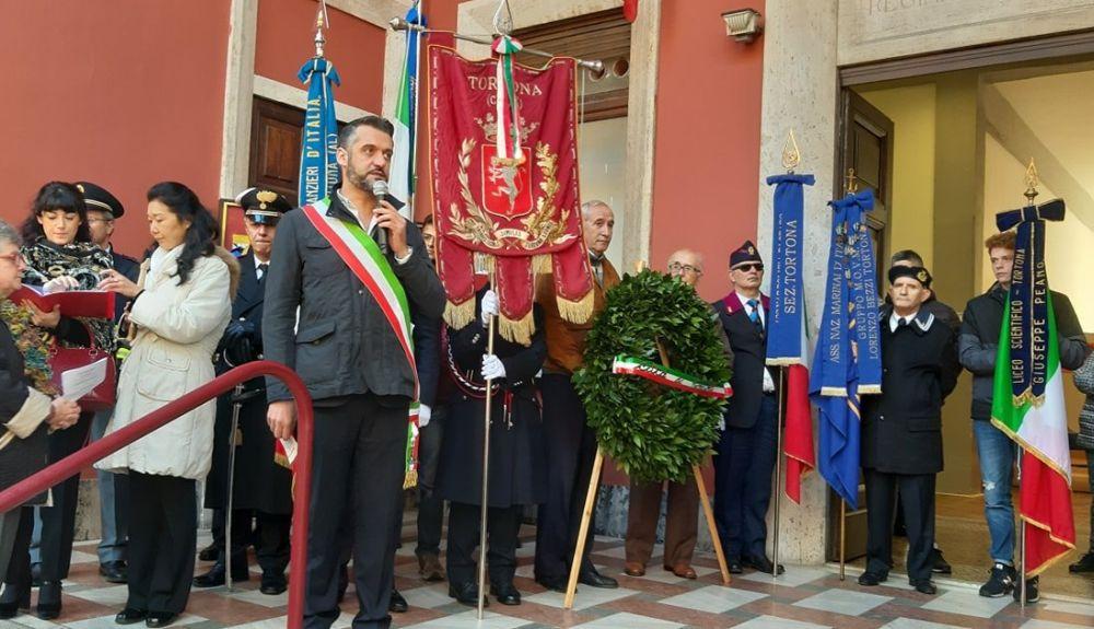 Anche a Tortona celebrata la Festa dell'Unità Nazionale con amministratori e tanti giovani