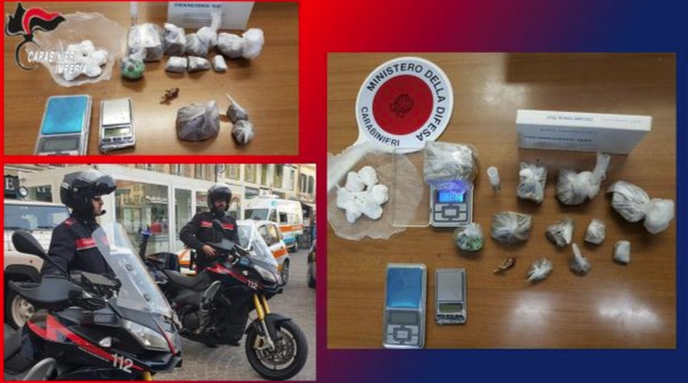 Arresti dei Carabinieri per droga a Sanremo