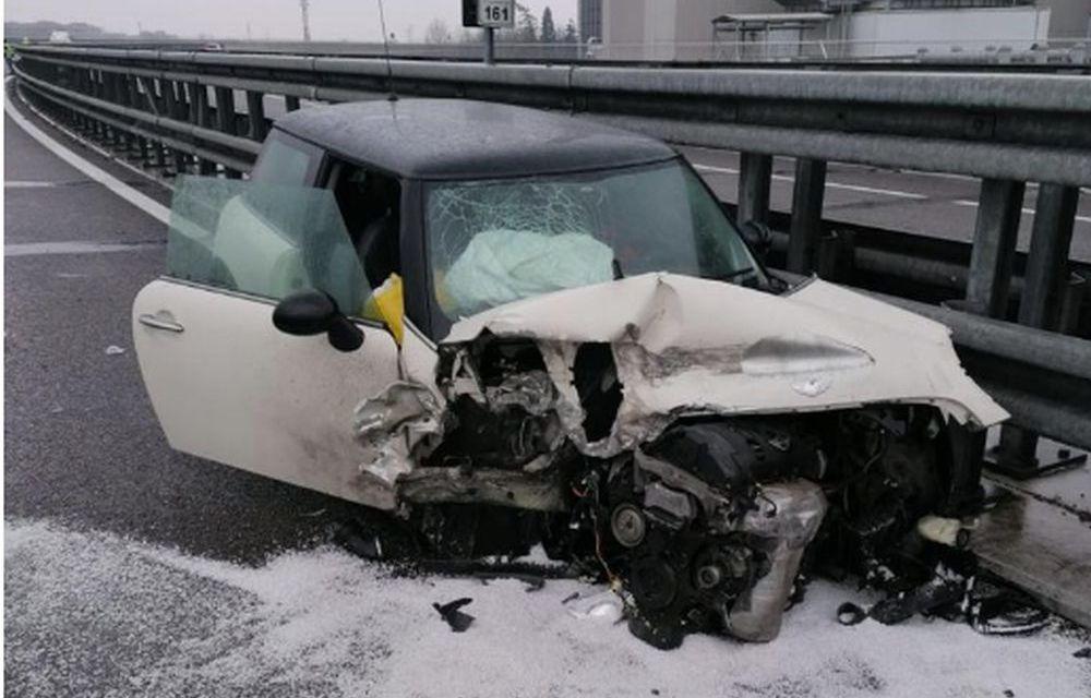 Incidente sull'A/21, grave una giovane mamma di 26 anni all'interno di questa automobile