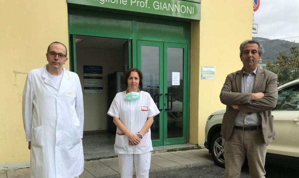 Coronavirus in provincia di Imperia, sopralluogo nel reparto di Malattie Infettive dell'Ospedale di Sanremo