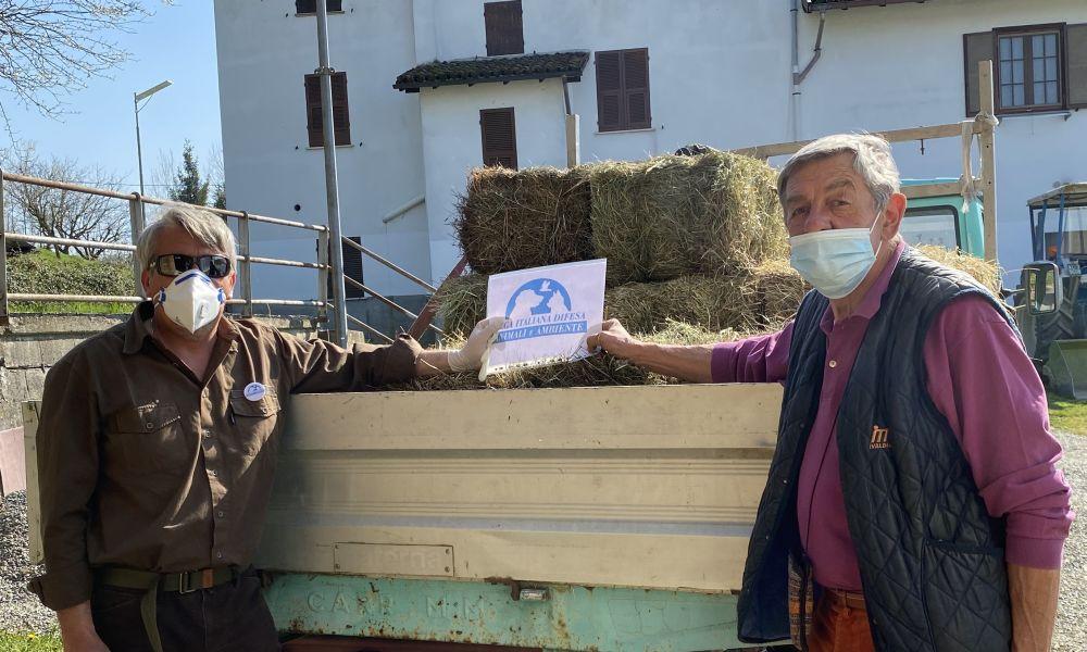 Leidaa porta aiuti agli animali del Family park di Felizzano