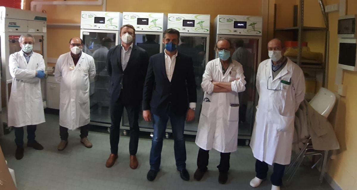 Consegnata l'attrezzatura, l'ospedale di Tortona adesso può fare 400 tamponi al giorno. Soddisfatto il Sindaco