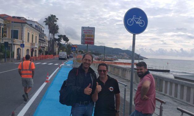 A Diano Marina ampliata la passeggiata, tolti i parcheggi e realizzata una ciclabile
