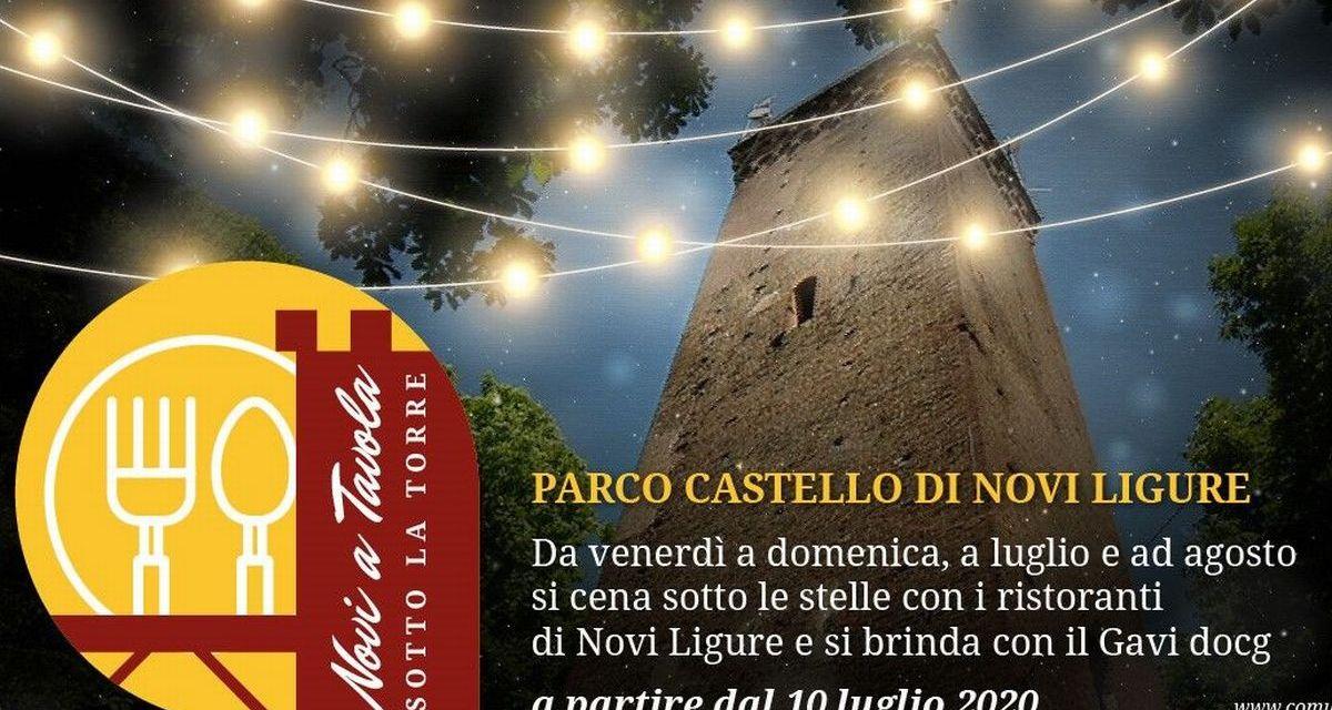 Da Venerdì si può mangiare all'aperto sotto la Torre al Parco di Novi Ligure