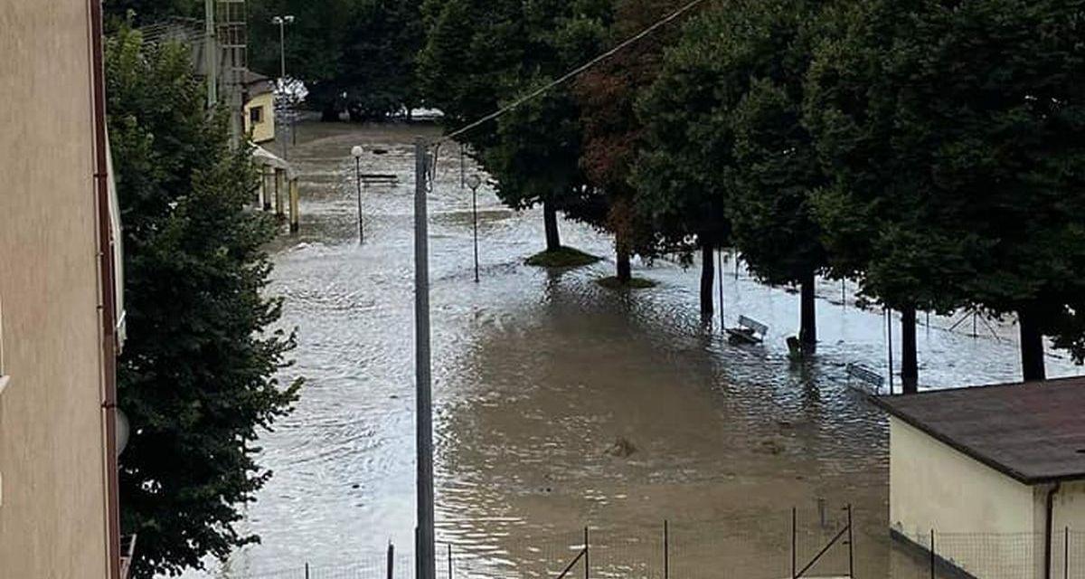 Maltempo nel novese, con piogge torrenziali e allagamenti. Le immagini dal Centro Meteo Piemonte