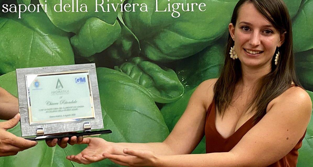 Consegnato a Chiara Ritondale il Premio Aromatica 2020 di Diano Marina