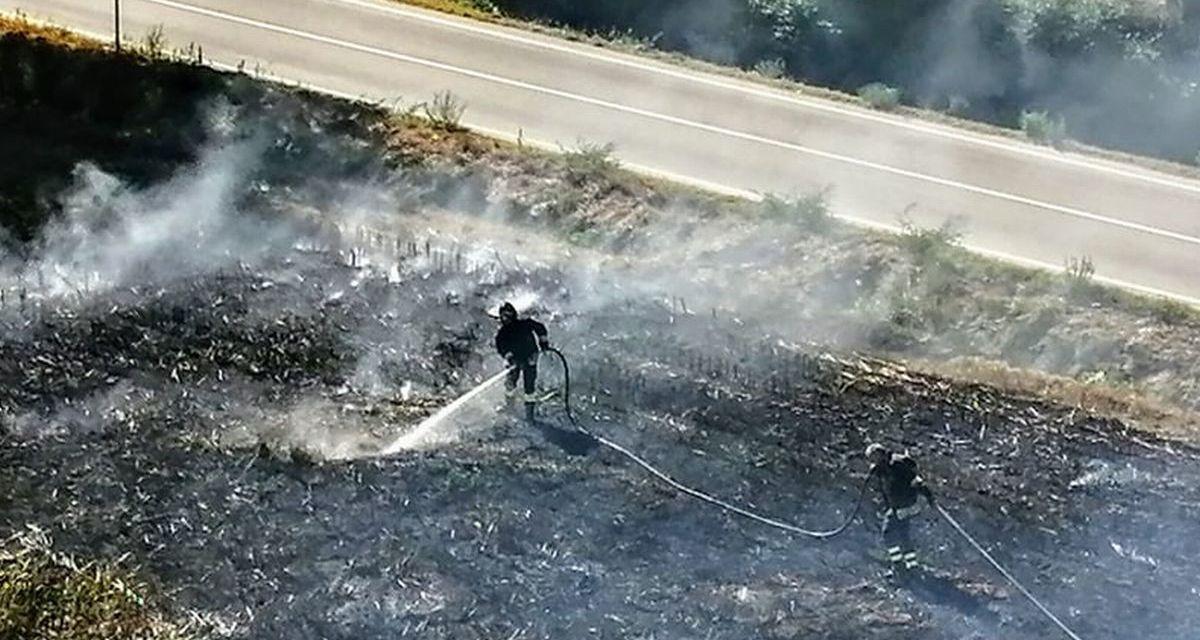Ancora un incendio a Carbonara Scrivia, è il secondo in pochi giorni