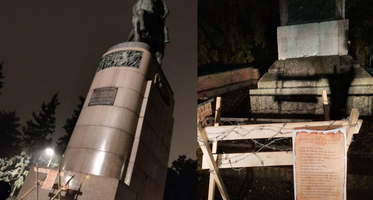 Trincee contro il lockdown, azione di CasaPound a Viguzzolo e Alessandria