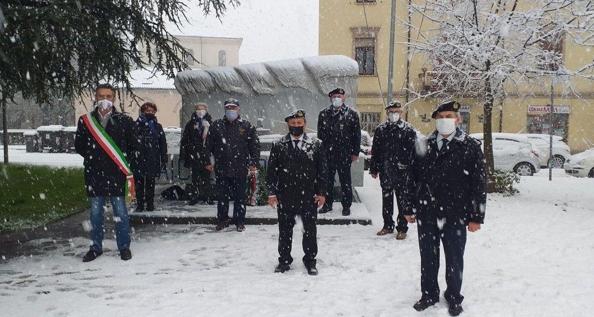 A Tortona la neve non ferma la celebrazione di Santa Barbara patrona dei marinai