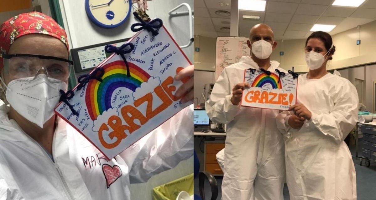 I bambini del Comprensivo A di Tortona hanno dedicato pensieri e auguri agli operatori dell'ospedale cittadino