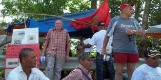 Una manifestazione del presidio nel 2012