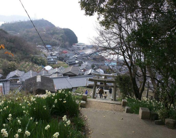 Ogijima depuis le sanctuaire de Toyotama-hime - janvier 2016