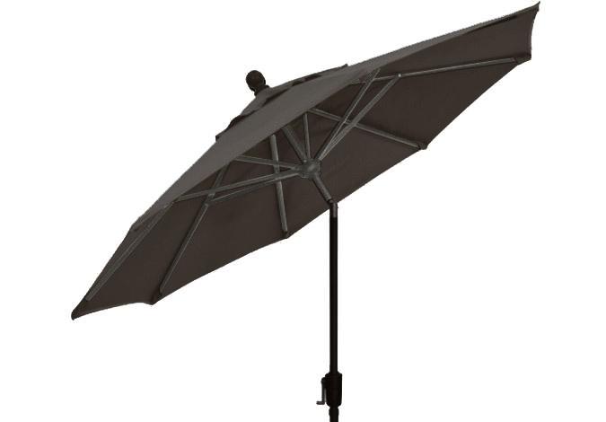 9 foot charcoal grey octagonal patio umbrella parasol by treasure garden